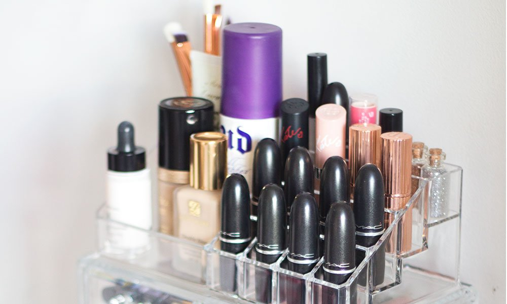 Clever make-up storage tips