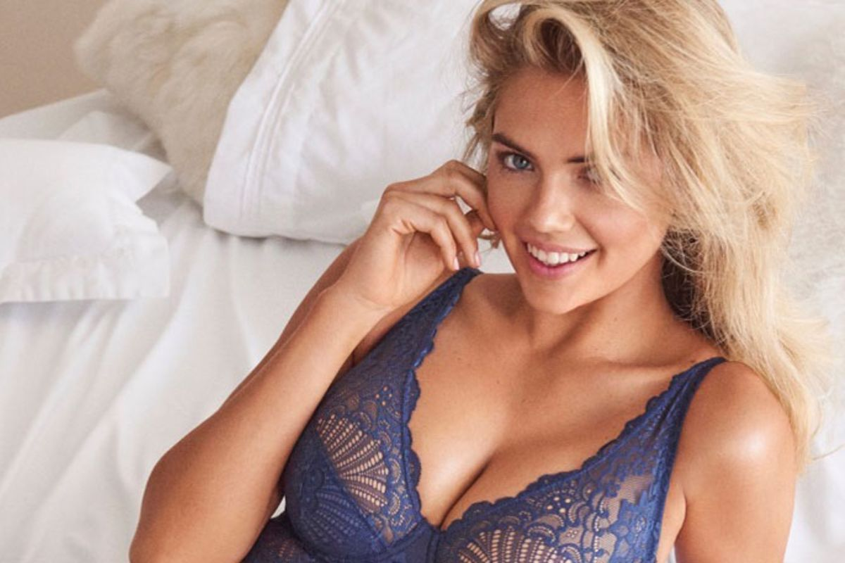 Kate Upton's photos in lingerie to celebrate spring will make you the day