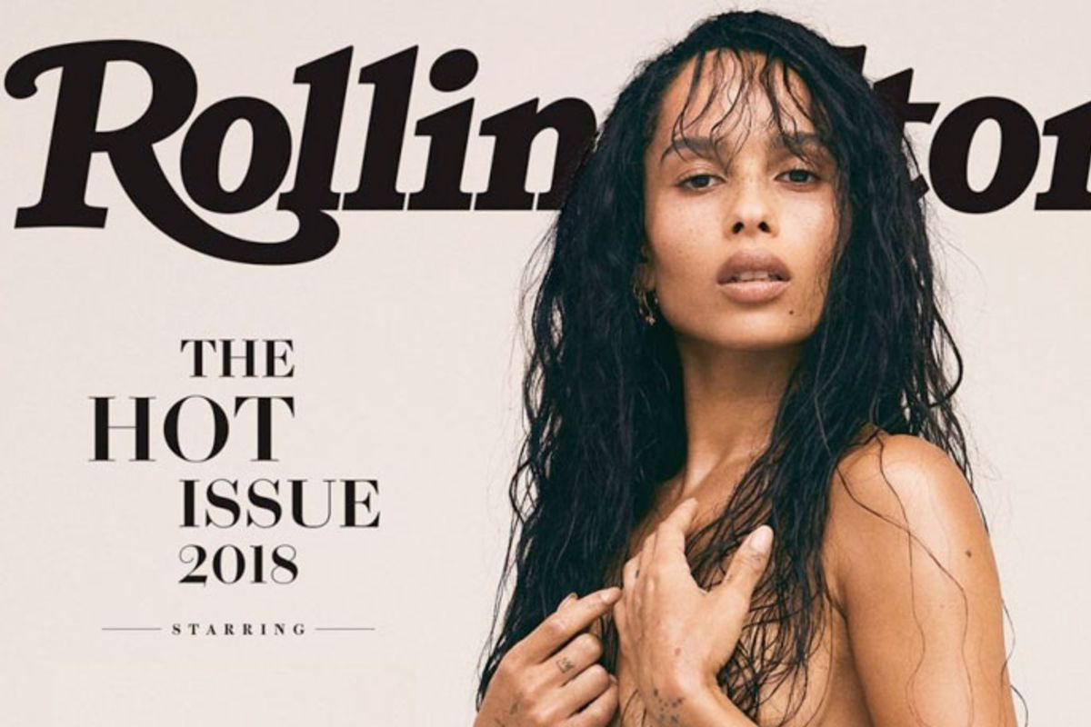 Zoë Kravitz recreates her mother's nude, Lisa Bonet, for Rolling Stone magazine